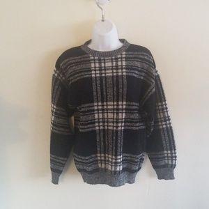 Pendleton black and white sweater